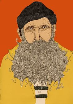 What if, instead of a beard of hooks, it was a beard of letters! AHHHH (Typography + pogonotrophy = bliss)