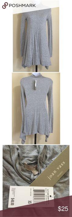 Joan Vass Mini Dress Size XS Joan Vass Studio Women's Mini Dress Size XS Gray Color Turtleneck Long Sleeve AsymmetricalHem (Longer On The Sides) Machine Washable 100% Viscose Bust Approx. 32-34 Inches Waist Approx. 28 Inches Hips Approx. 38 Inches Length From Rear Collar Seam Approx. 28 Inches Sweep Approx. 74 Inches Please Measure To Ensure A Proper Fit MSRP $ 48.00 New With Tag Joan Vass Dresses Mini