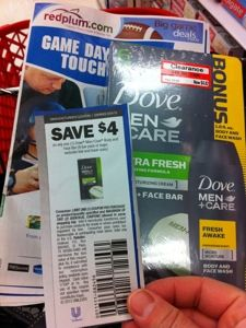 For Target Shoppers: Stock up on Dove Men + Care Body & Face, 6 bars for only $0.82 + free travel size Dove Men body & face wash.