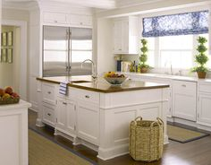 This is so similar to the look of my existing kitchen... should I change my white appliances to stainless?