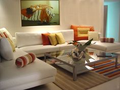 Living Room cute-white-sofa-living-room-design-2014-feats-stunning-glass-coffee-table-and-lovely-decorative-carpet-on-excellent-flooring-ideas-and-cute-colorful-cushion Elegant Living Room Design 2015 and Interior Decoration Ideas