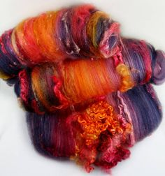 Molten Wild Card Bling Batts for spinning and felting 5.3