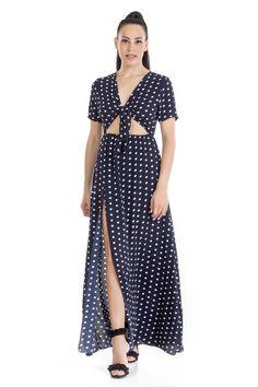 52f75c39c5d5 -Φόρεμα Πουά -Με λεπτό λάστιχο στην μέση για καλύτερη εφαρμογή -Δεν έχει  φερμουάρ
