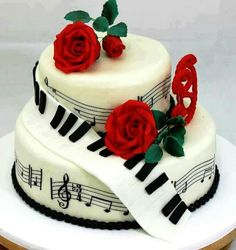 Music cake. Would make a pretty cake for a musical themed wedding.