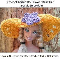 crochet Big Barbie hat