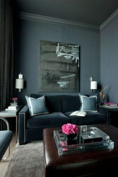 Velvet has the power to instantly make the simplest of sofa shapes look elegant and supple. It's not restricted to a certain decorating style or philosophy, either: an English rolled-arm sofa, a French-inspired settee or a streamlined couch can all benefit from this luxurious fabric.