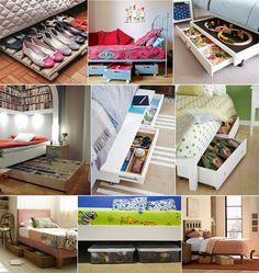 Organize debaixo da cama!