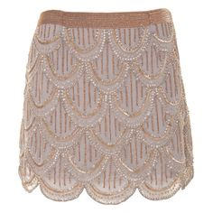 Grey Sequins Mini Skirt