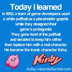 I am happy they stuck with Kirby :D