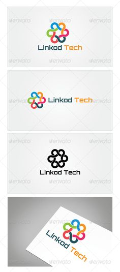 Linkod Tech Logo Template by mia3d Re sizable Vector EPS and AiPSD 6250*4167 Color customizable Fully editable Free font used: http://www.fontsquirrel.com/fonts/Orbi