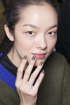 Prabal Gurung collaborated with Sally Hansen to create hues of olive greens, brushed gold and navy blue
