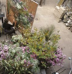 artists homes series – the home, studio and art of French large scale flower artist ClaireBasler