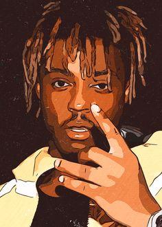 Poster Painting - Juice WRLD Artwork by Taoteching Art Rapper Wallpaper Iphone, Rap Wallpaper, Arte Hip Hop, Posca Art, Rapper Art, Dope Wallpapers, Art Pop, New Art, Art Drawings