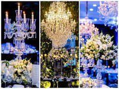 Castiçais, lustres e lindos arranjos também compuseram a ornamentação - Decoração Luciana Krinanowski
