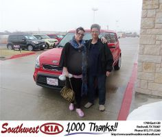Happy Anniversary to Michelle Dewey on your 2012 #Kia #Soul from Jonathan Elizondo and everyone at Southwest KIA Rockwall! #Anniversary