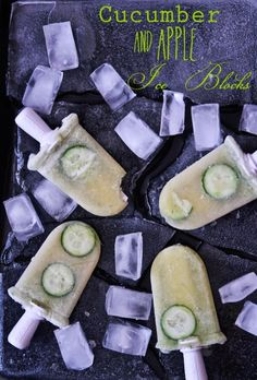 Cloudy Apple & Cucumber Cool Icy Pops @ Not Quite Nigella @Lorraine Elliott
