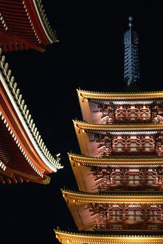 Senso-ji @ Night, Tokyo, Japan: photo by jpellgen, via Flickr