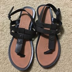 Brown Maurice's sandals Worn maybe once. Nothing wrong with them, just don't fit my feet right! Maurices Shoes Sandals