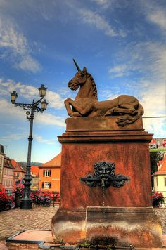 Unicorn - Town Emblem of Saverne, Alsace, France