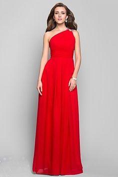2013 Prom Dresses Sheath/Column Floor Length One Shoulder Chiffon Beading & Sequins