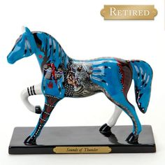 Sounds Of Thunder Limited Edition Painted Pony By Bill and Traci Rabbit (Retired)- From Tribal Impressions- Review off of: http://www.indianvillagemall.com/statue/ppsoundsofthunder.html    You can review the complete line of Painted Ponies -watch some videos about them and learn their history off of: http://www.indianvillagemall.com/statue/ppmenu.html