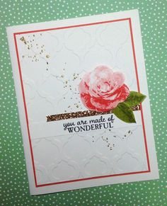 Stampin' Up!'s Picture Perfect stamp set was used to make this beautiful card.  Created by Linda Madison.