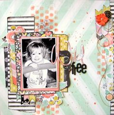 #papercraft #Scrapbook #layout   My Creative Scrapbook Kit Club with exclusive sketch and add-ons!