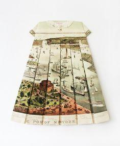 Les Robes Géographiques by Elisabeth Lecourt #art #map #geography #dress