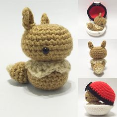 ✨⚡EEVEE️❄️ It's a random surprise but I meant to make Bulbasaur, I just need to go on a quick trip to the store! So definitely after this you'll see #Eeveelution s and more #Ponies !!! #anime #amigurumi #yarnart #pokeball #eevee #pokemon #crochet #yarn