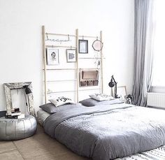 Bedroom with Bed on Floor