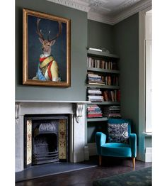 General Stag, Ready To Hang Canvas Art