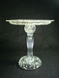 """The Tina"" pedestal cake stand repurposed glass plate and candle stick"