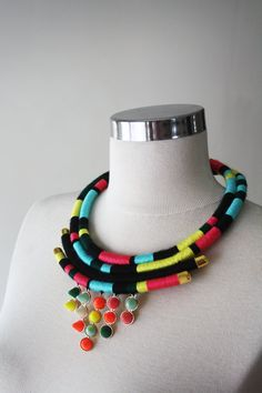 Hey, I found this really awesome Etsy listing at https://www.etsy.com/listing/186852548/neon-rope-necklace-boho-necklace-tribal