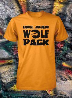 ef732497a4b One Man Wolfpack Shirt Funny T Shirt Sizes by FunhouseTshirts · Funny  TshirtsHoodiesCool ...