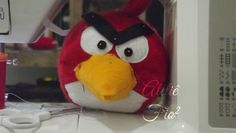 angry bird, felt, feltro, red bird
