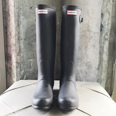 NEW   HUNTER   Tall Boots / Hunter Rain Boots Never Worn Before  New Condition  Beautiful Matte Chocolate Brown Finish. Great match with Jeans & Snuggy Sweaters. Must Have for Rainy Day  Hunter Boots Shoes Winter & Rain Boots