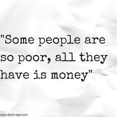 being poor
