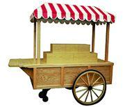 wagon wheel cart with awning