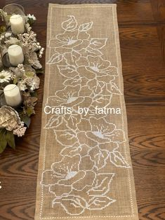 Crochet Table Runner, Crochet Tablecloth, Farmhouse Table Runners, Burlap Runners, Kitchen Colors, Vintage Crochet, My Coffee, Handicraft, Embroidery