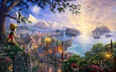 Thomas Kinkade Disney Dreams Collection - Pinocchio