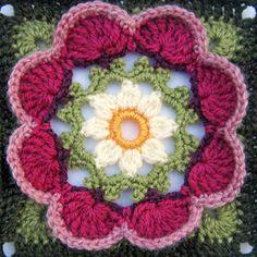 Transcendent Crochet a Solid Granny Square Ideas. Inconceivable Crochet a Solid Granny Square Ideas. Crochet Squares Afghan, Crochet Blocks, Granny Square Crochet Pattern, Crochet Flower Patterns, Afghan Crochet Patterns, Crochet Granny, Crochet Motif, Crochet Designs, Crochet Doilies
