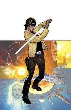 Rebel Heist: Luke Skywalker by Adam Hughes