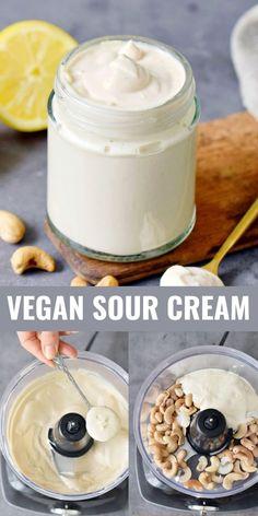 Vegan Cheese Recipes, Vegan Sauces, Vegan Foods, Vegan Dishes, Dairy Free Recipes, Raw Food Recipes, Gluten Free, Vegetarian Diets, Vegan Sour Cream