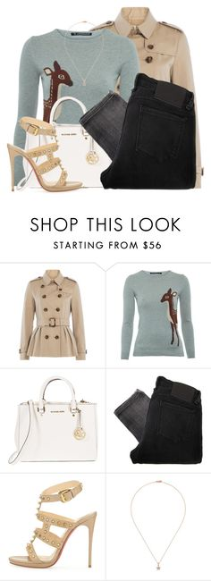 """""""Late Christmas Shoping"""" by candysweetieglam ❤ liked on Polyvore featuring Burberry, Sugarhill Boutique, MICHAEL Michael Kors, Religion Clothing, Christian Louboutin and Khai Khai"""