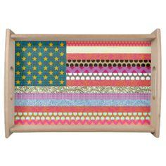 US Beauty flag #scrummylicious #scrummy #sharonturner #US #USA #flag #pattern #flowers #geometric #stars #stripes #geometric #polkadot