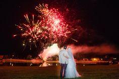 Rac E Trent  Wedding Fireworksacreoutdoor