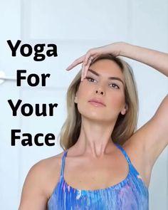 Yoga Fitness, Fitness Workout For Women, Facial Yoga, Facial Massage, Face Facial, Power Yoga Video, Face Yoga Exercises, Yoga For You, Yoga For Face