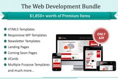 Amazing bundle for web developers worth $1850 just for $(DealClub 29 $21.75)