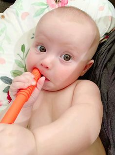 Best Teething Toys, Baby Teething Remedies, 5 Month Olds, Happy Baby, Our Baby, Slime, Tube, Parents, Dads
