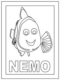 Finding Nemo Coloring Pages Disney